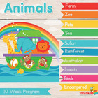 Animal Vocabulary DVD Set of 20