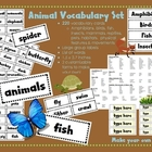 Animal Vocabulary Set {220 terms}