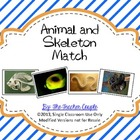 Animal and Skeleton Matching Cards