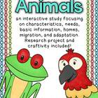 Animals- An Interactive Mini Unit
