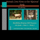 Animals Come Home to Our National Parks - Vocabulary