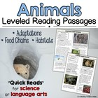 Animals: Leveled Reading Passages