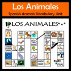 Animals Vocabulary Activities & Games Unit in Spanish (Los