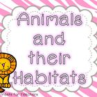 Animals and their Habitats~reserach