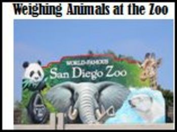 Animals at the Zoo and how zookeepers weigh them. About Weight