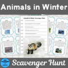 Animals in Winter Scavenger Hunt