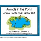 Animals in the Pond: facts, habitat, minibook, center+