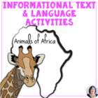 Animals of Africa adapted book for special education, auti