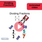 Animated dividing fractions with KFC video