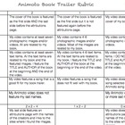 Animoto Book Trailer Rubric