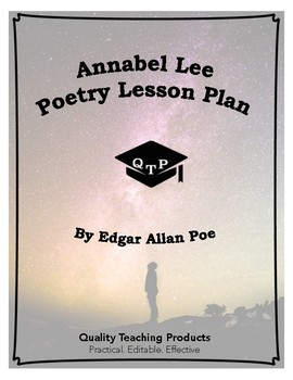 Annabel Lee Poem by Edgar Allan Poe Lesson Plans, Worksheets, Key