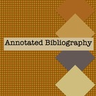 Annotated Bibliography Sample Template