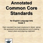 Annotated Common Core Standards for ELA Grade 5