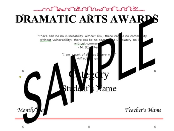 Annual Dramatic Arts Awards