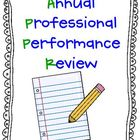Annual Professional Performance Review EVIDENCE BINDER!!   APPR!