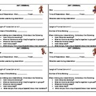 Ant Journal Observation Sheet