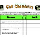 Anticipation Guide for Cell Chemistry