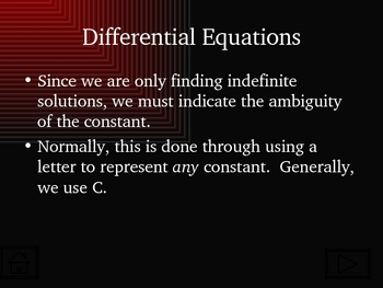 Antiderivatives, Differential Equations, and Slope Fields