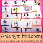 Antonym Matching Cards by Teacher Nyla