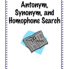 Antonym, Synonym, Homophone Search
