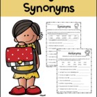Antonyms and Synonyms Packet