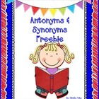 Antonyms and Synonyms Worksheets