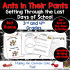 Ants In Their Pants! Getting Through the Last Days of School!