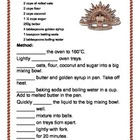 Anzac Biscuits Recipe English Activities