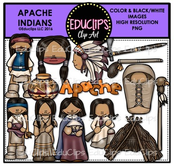Apache Indians Clip Art Bundle