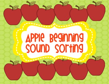 Apple ABC Sound Sorting