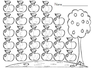 Apple Alphabet Pages