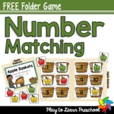 Apple Baskets - Visual Discrimination Number Matching Game