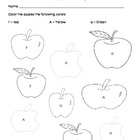 Apple Coloring (by Letters F, A, a)