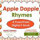 Apple Dapple Rhymes PowerPoint E-Book for Reading Lessons