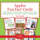 Apple Fact Cards for Calendar Pocket Charts - Apple Unit E