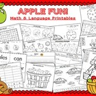 Apple Fun! ~ Math and Language printables