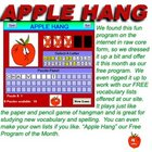 Apple Hang  Hangman Game