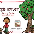 Apple Harvest Literacy CenterSensory Tub Letter Cards