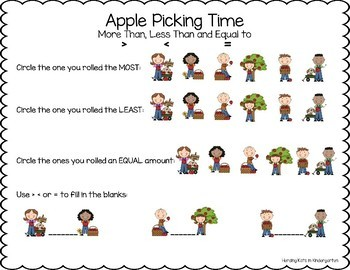 Apple Kids Roll & Graph Activity