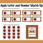 Apple Letter and Number Match Ups