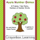 Apple Number Games Pack - 10 Frames - 0-20 - Learning Centers