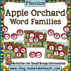 Apple Orchard- Word Families