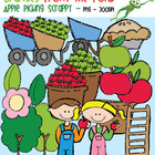 Apple Picking Scrappy - Clipart for Teachers