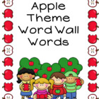 Apple Pocket Chart Words Word Wall