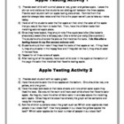 Apple Tasting Science and Math Activity