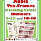 Apple Ten-Frames Matching Games (Numbers 0-10 and 10-20)