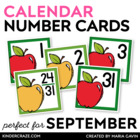 Apple Theme Calendar Numbers