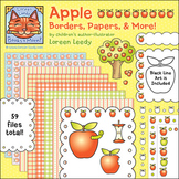 Apple Borders, Papers, & Clip Art {Personal or Commercial Use}