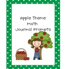 Apple Theme Math Journal Prompts