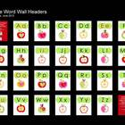 Apple  Theme Word Wall Headers/Alphabet Cards (Portrait)